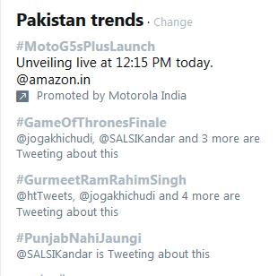 Gurmeet Ram Rahim trending in Pak on 28-29 Aug 17